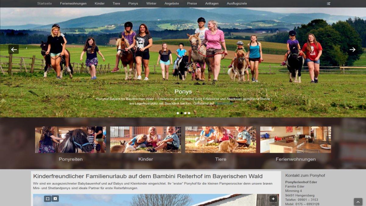 homepage-erstellung-deggendorf-ponyferienhof-niederbayern